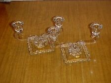 NEW MARTINSVILLE  CRYSTAL TWO-LIGHT CANDLEABRA  SET