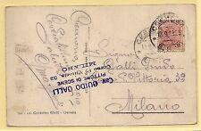 12.09.1919 - Bella cartolina illustrata da Cremona per Milano