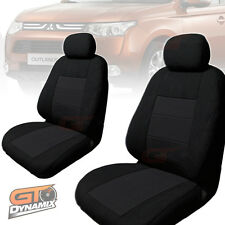 Mitsubishi ZJ ZK OUTLANDER CUSTOM MADE SEAT COVERS F+R NOV/2012 to 2018 BLACK