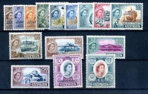 Cyprus 1960 defin set fine MNH