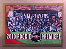 2010 Topps Gold #412 2010 Rookie Premiere RC Football Card