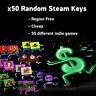 🔥x50 Random Steam Keys🔥 - REGION FREE + 😻BONUS ($9+ Steam game)