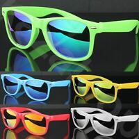 Unisex Square Classic Retro Style Bright Colours Mirror Lens Sunglasses UV400