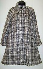 $229 J Jill Womens Size M Tweed Wool Alpaca Coat Winter Jacket Natural Brown New