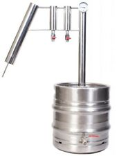 DISTILLER 30 L stainless steel still moonshine home brew alcohol 75%+FREE YEAST