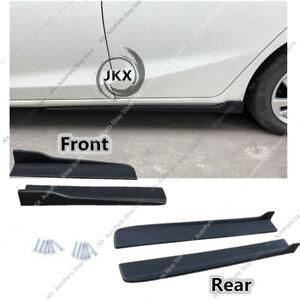 Black Universal Fit Car Side Skirt Extensions PP Bottom Line Valance Kit 4PCS c