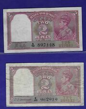 British India - 2 X 2 Rupees KGVI 1937