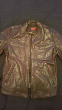 Levis Lederjacke Biker  brown Men's Levi's Leather Jacket M