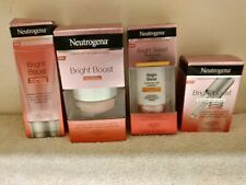 4 Neutrogena Bright Boost Items Serum + Moisturizer  + Gel Cream & Micro Polish