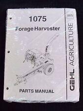 Genuine Gehl 1075 Forage Harvester Parts Catalog Manual Mint Sealed