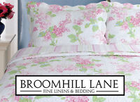 Brand New! Bedspread + Free Shams Pink White Floral Cotton Patchwork Quilt Set