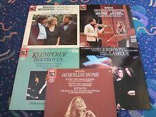 6 DIGITAL EMI LP's DU PRE ELGAR MEYER SCHIFF MUTTER ACCARDO KLEMPERER LABEQUE