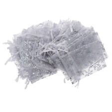 100x Translucent Candy Bag Snowflake White Jewelry Organza Wedding Gift Pouch