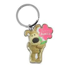 Boofle Best Ever Auntie Metallic Keyring Lovely Gift Idea Christmas Birthday