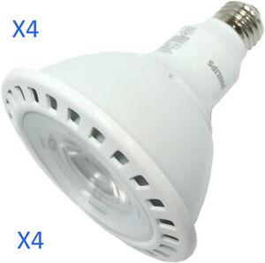 (4) Phillips LED, 17 Watt PAR38 Dimmable, 25 degree Flood, 3000k,1250 lumens