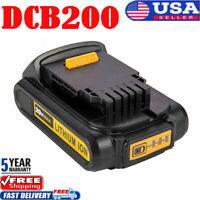 For DEWALT DCB203 20V 20 Volt Max Compact XR 2.0 Ah Lithium-Ion DCB207 Battery