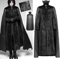 Manteau cape gothique baroque victorien vampire velours jacquard PunkRave homme