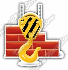 """Crane Hook Construction Builder Car Bumper Window Vinyl Sticker Decal 4""""X5"""""""