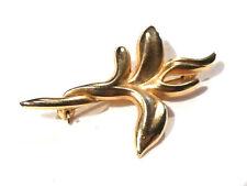Bijou alliage doré broche de créateur signée Tie Rack Made in England  brooch