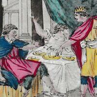 Gravure XVIIIe Atrée Thyeste Ατρεύς Θυέστης Atreus Thyestes Cannibalisme 1793