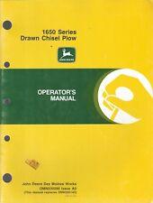John Deere Operator's Manual 1650 Series Drawn Chisel Plow Omn200286 Ao ~ F133