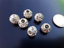 5 Entrepiezas cristales strass cristal TURQUESA 14mm strass bolas cuentas