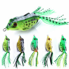 5 un. 6cm/12g Grande Rana Topwater Suave Pastic Pesca Señuelos Bait Bass CRANKBAITS