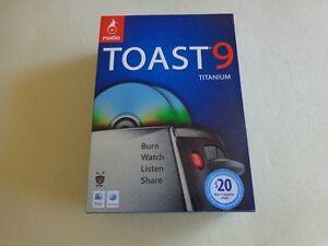 Brand New: Roxio Toast 9 Titanium (for Mac) in Retail Box Full Version