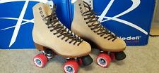 NEW Riedell Zone 135 Roller Skates Suede Tan Size Men's 12, Women's 13-13.5.