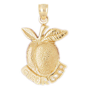 New 14k Gold Georgia Peach Pendant