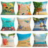 "18"" Summer Beach Cotton Linen Pillowcase Holiday Waist Cushion Cover Home Decor"