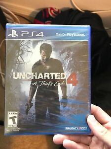 Uncharted 4: A Thief's End PlayStation 4 (PS4) BRAND NEW Unopened Game
