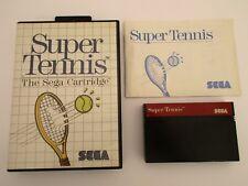 SUPER TENNIS - SEGA MASTER SYSTEM - Complet
