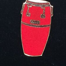 Vintage Red Mini Conca Drum Music Pin Gold Plated AIM58A Free Shipping