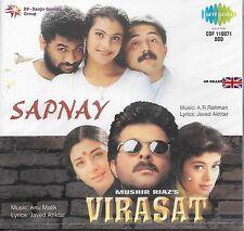 sapnay / virasat - 2 Film Chansons en un CD - Neuf BOLLYWOOD SARE GAMA CD