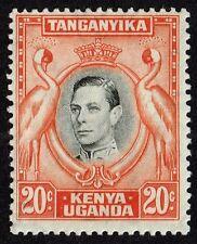Kenya, Uganda & Tanganyika 1938 20c. black & orange (p.13¼), MH (SG#139)