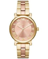 Michael Kors Norie Blush Dial Ladies Two Tone Watch-MK3586