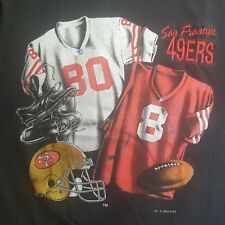 Vintage San Francisco 49ers Jerry Rice 80 Steve Young 8 Nutmeg USA  Shirt Sz XL