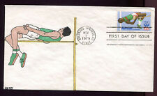 #C97 31c Olympics Airmail FDC Kribbs Hand Painted Cachet #3 of only 5 FD6577