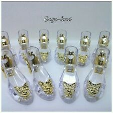 48 Clear Slippers Wedding Souvenir Favor Holders Plastic Shoes Gifts Remembrance