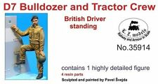 LZ MODELS BRITISH D7 BULLDOZER & TRACTOR DRIVER STANDING Scala 1/35 Cod.35914