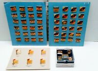 3 Vintage Olympic Pin Sets 1992 Summer Winter 58 PCs On Corresponding Card