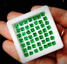 Loose Gemstone 6.80 Cts / 50 Pcs 3X3 MM Natural Emeralds Lot