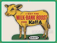 KAFF-A KRAFT COW CALF FARM OLD SCHOOL SIGN REMAKE BANNER BARN ART MURAL 3' X4'!!