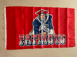 New England Patriots Old Flag 3X5 FT Football NFL Banner Polyester