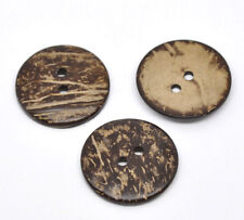 20 Large Wooden Buttons - 1.5 inch - 38mm - Wood Buttons -  Coconut Wood