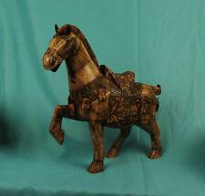 Tang-Pferd Terrakotta Feng Shui Symbol Ausdauer Sieg türkis #P-TAN-TP03