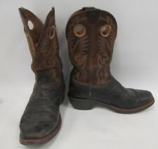 Ariat Mens Black Brown Leather Cowboy Western Boots 10EE