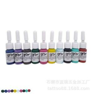 Solid Ink Tattoo Color Ink 5ml bottle 100% Authentic 4/6/8/7/10 Colours
