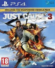 Just Cause 3 Day 1 Weaponized Vehicle Pack Edition PS4 * NEW SEALED PAL *